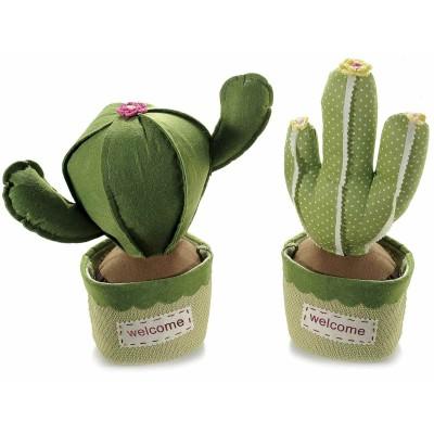Set 2 fermaporta cactus in stoffa imbottita