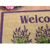 Set 2 zerbini Welcome con decorazione lavanda e base in gomma
