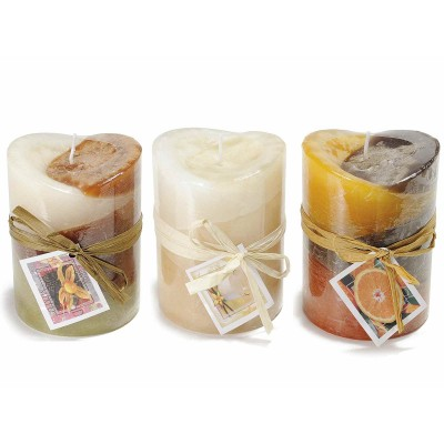 Set 3 candele cilindrica profumata tricolore