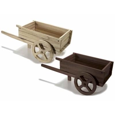 Set 2 carretti decorativi grande in legno