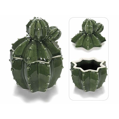 Set 2 contenitori in ceramica a pianta grassa