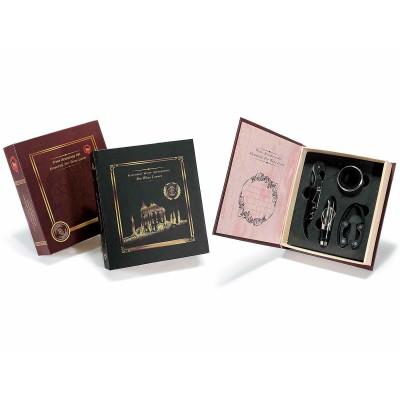 Set 2 confezioni a libro con 4 accessori da sommelier per il vino