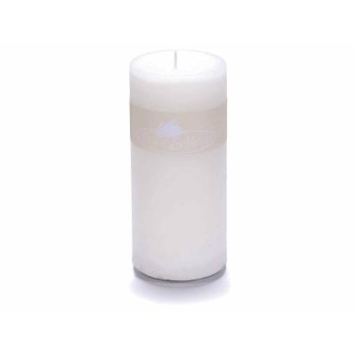 Set 4 candele bianche grande 6,7x14 cm
