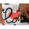Set 2 zerbini con decori gatto e cuori e base in gomma antiscivolo